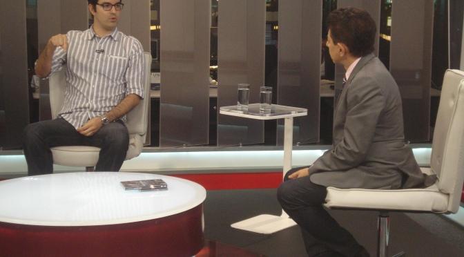Entrevista no Jornal Record News, sobre a Sonda Rosetta e o pouso do robô Philae no cometa 67P